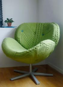 Melanie Porter unique knitted chairs
