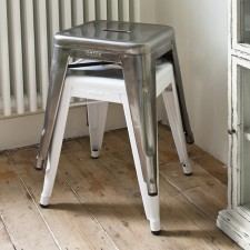 Contemporary metal home or garden stool