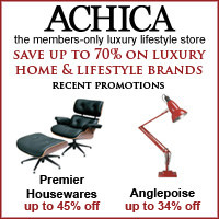 Achica homeware discount shopping bargains