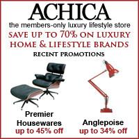 Achica homeware discount shopping bargains