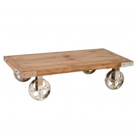 Industrial chic: factory cart coffee table