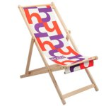 Three funky deck chairs