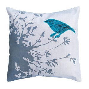 Perch bird cushion designed by Katie and the Wolf