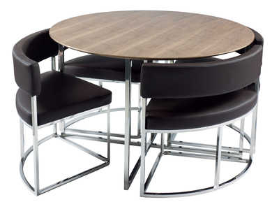 Compact Orbit modern dining table set from Dwell