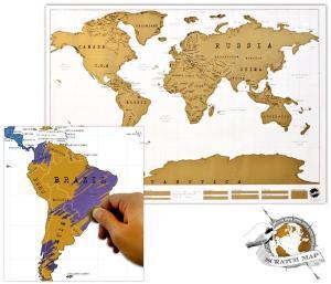 Travellers world map wall art