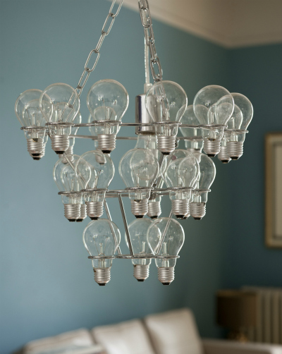 Leitmotiv light bulb chandelier from Tesco