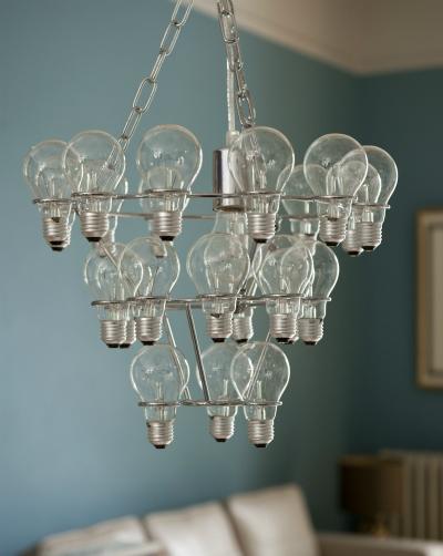 Leitmotiv light bulb chandelier from Tesco