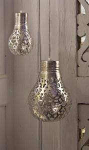 Silver perforated designer lights