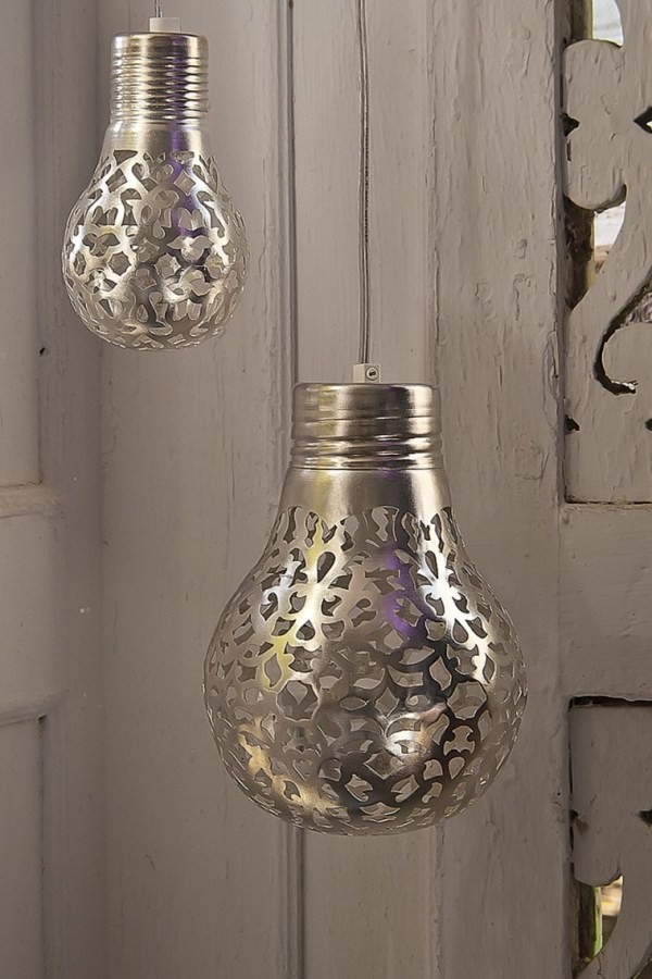 Silver Arquette lamps from Plumo
