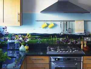 Country scene glass splashbacks