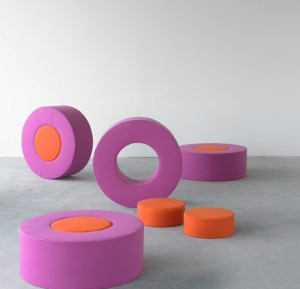 Three in one designer pouf seat