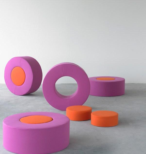 Softline Donut Pouf from Imagine Living