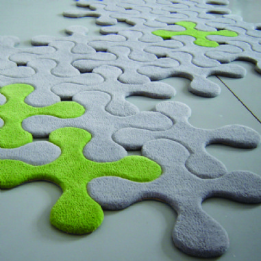 Contemporary felt jigsaw rug ...