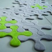 Contemporary felt jigsaw rug