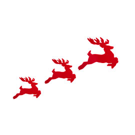Johnny Egg flying reindeer set exclusively from Heal's