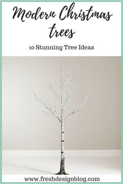Discover 10 stunning modern Christmas tree ideas that are perfect for a contemporary home