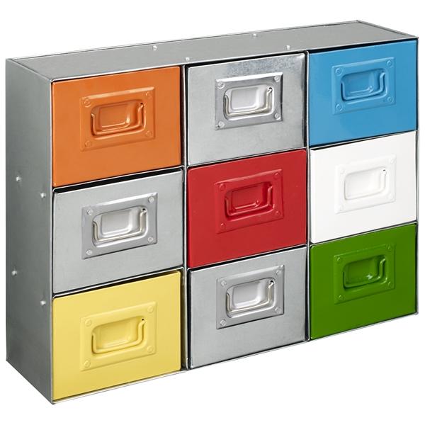 Industrial style multi drawer storage chest