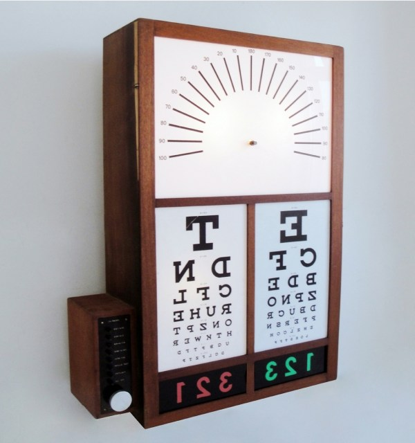 Optometrists light box from Skinflint Design