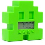 Retro 80s space invader alarm clock