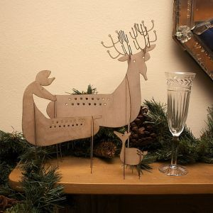 Contemporary reindeer xmas christmas decorations
