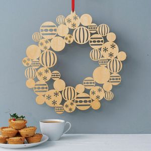 Modern and contemporary Christmas xmas wreath