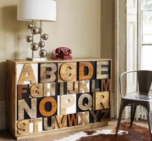 Typography furniture and fresh home ideas