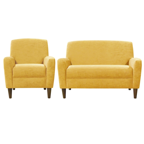 Contemporary Sofa And Chair Contemporary Yellow Sofa And Chair