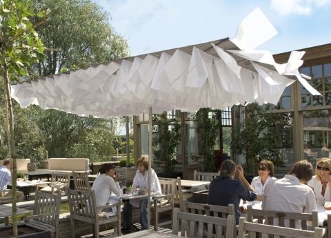 Breezer contemporary garden parasol