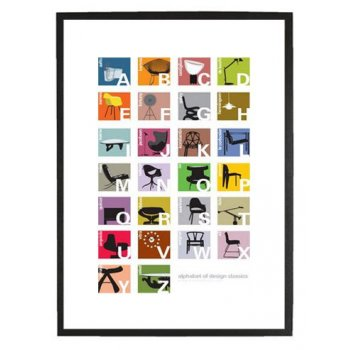 Classic chairs alphabet print from Cult Furniture
