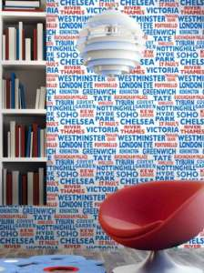 Contemporary graphic London wallpaper
