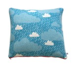 Donna Wilson Rainy Day blue cushion
