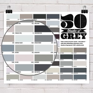 50 shades of grey gray pin up poster