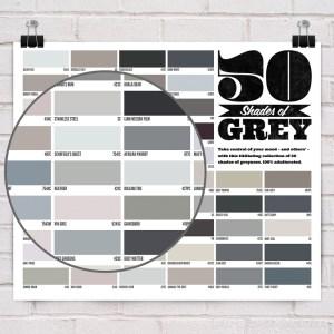 50 shades of grey gray pin up poster