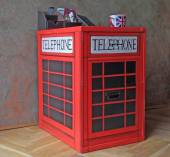 British telephone box furniture