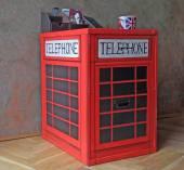 British telephone box furniture