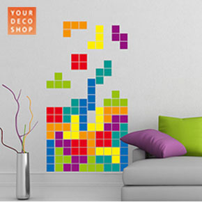 Funky contemporary wall sticker decor