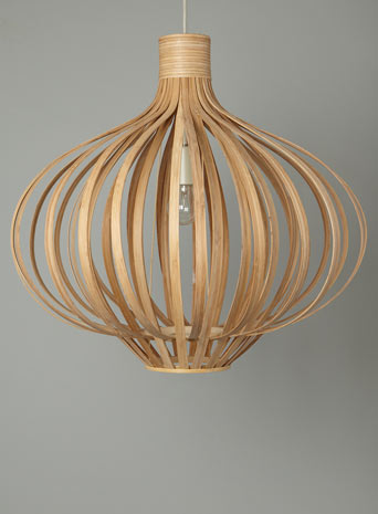 Erika wood pendant light from Bhs