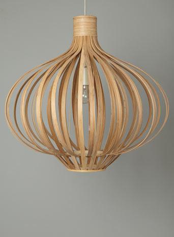 Erika wood pendant light from Bhs