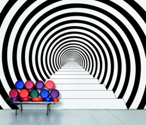 Hypnotic dazzling fresh design wall decal