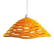 Honey beehive yellow felt lamp shade