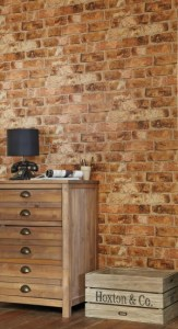 Affordable textured wallpaper brick wall