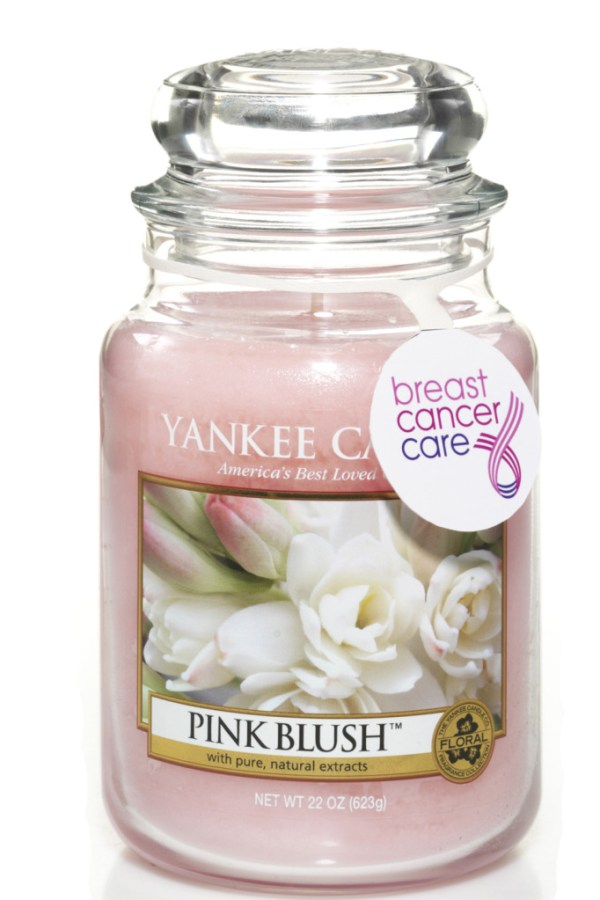 Special Yankee Candle for Breast Cancer Care