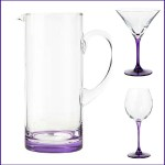 Ben de Lisi purple coloured glassware range