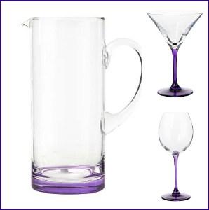 Designer purple glassware by Ben de Lisi