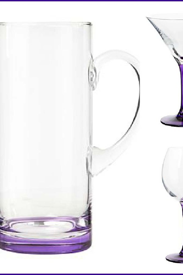 Ben de Lisi purple coloured glassware range