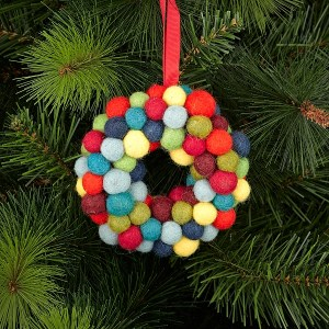 Contemporary felt Christmas decoration