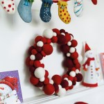 Felt So Good contemporary felt Christmas wreath