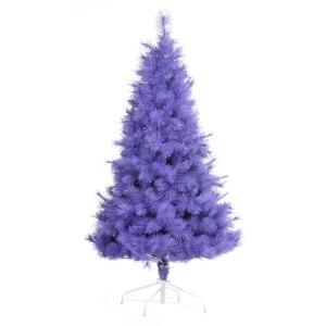 Contemporary modern purple Christmas xmas tree
