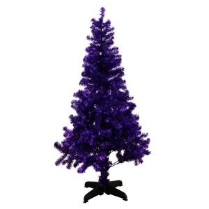 Contemporary alternative purple plum xmas tree