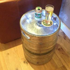 How to make a table from a beer keg